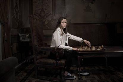 La oscense María Eizaguerri, juvenil española con mayor proyección, y Lance Henderson (Marbella), gran promesa del ajedrez.