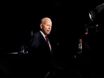 Joe Biden, en la Casa Blanca, este miércoles.