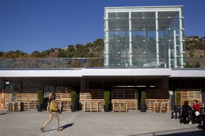 Aspecto exterior de El Cubo, el edificio que acogerá, previsiblemente en 2015, la sede malagueña del Centro Pompidou.