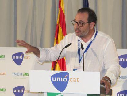 Ramon Espadaler en la convención programática del sábado.