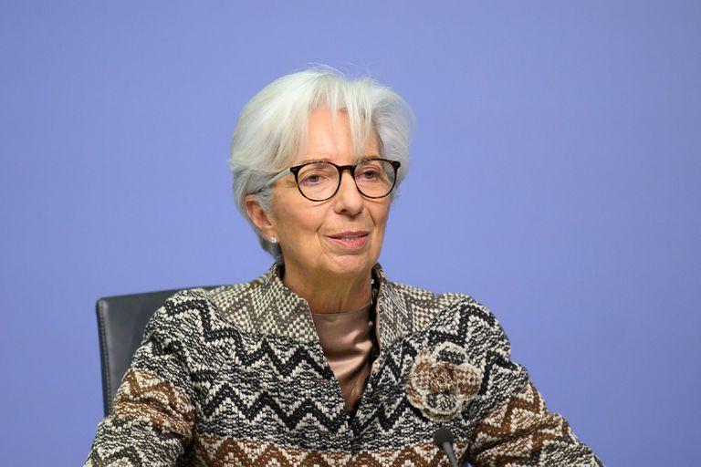 La presidenta del BCE, Christine Lagarde, durante el consejo de Gobierno de la entidad en diciembre.