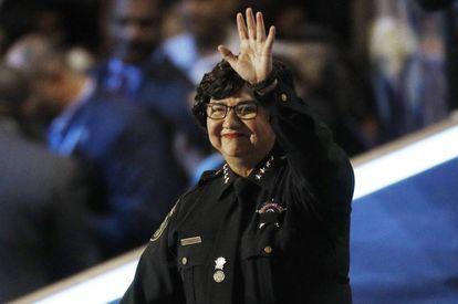 Lupe Valdez, 'sheriff' durante 12 años y hoy candidata a gobernadora del estado de Texas.