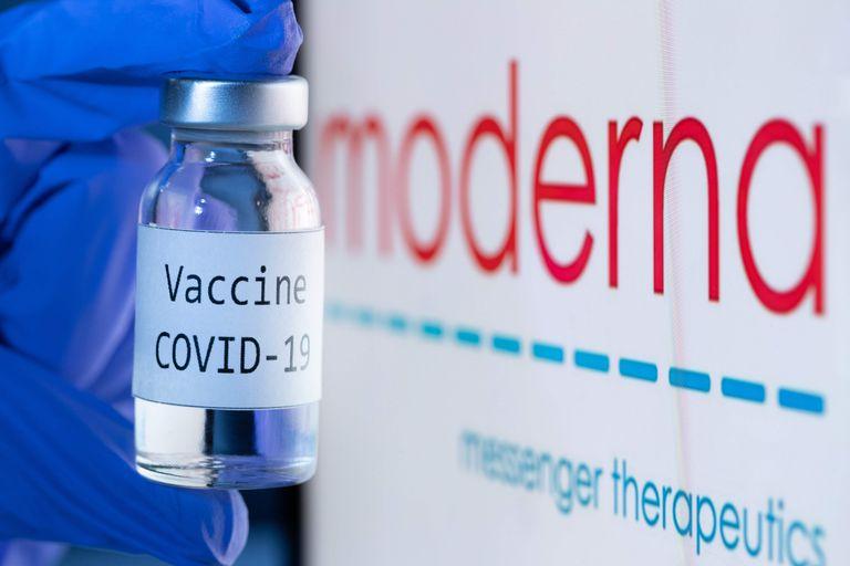 Stock photo of Moderna's vaccine.