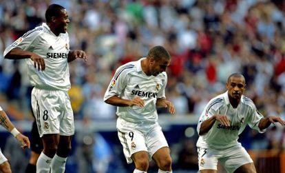 Baptista, Ronaldo y Roberto Carlos, en 2005.