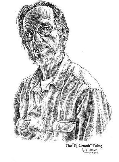 Autorretrato de Robert Crumb hecho en 2001.