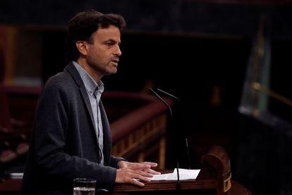 Jaume Asens, durante una intervención en el Congreso de los Diputados, en una imagen de archivo.
