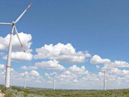 Parque eólico en Nuevo Léon, al norte de México.