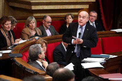 Boi Ruiz, consejero de Salud, en la sesión ordinaria en el Parlament.