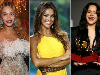 Beyoncé, Lara Álvarez y Rosalía.