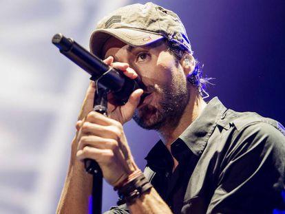 Enrique Iglesias durante un concierto en mayo pasado.