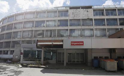 Fachada de las urgencias del hospital Puerta de Hierro.
