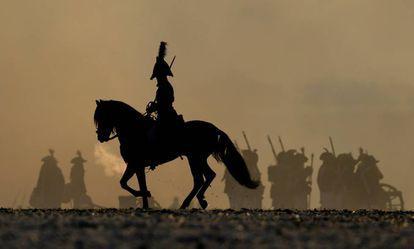 Recreación de la batalla de Austerlitz.