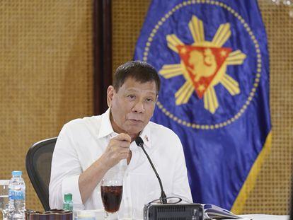 El presidente de Filipinas, Rodrigo Duterte, en el palacio presidencial de Malacanang, en Manila, el 7 de septiembre.