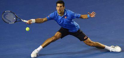 Djokovic, en el partido contra Muller.