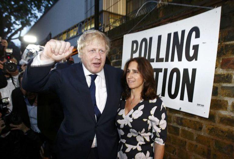 Boris Johnson y su exmujer, Marina Wheeler.