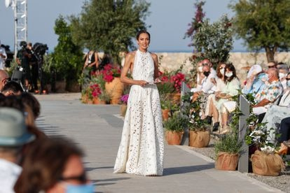 Nieves Álvarez, presentadora de la pasarela Moda Adlib Ibiza 2021, in Ibiza, on Saturday, 12 June 2021.