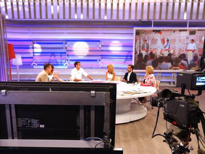 Plató de Tele 5, un canal propiedad de Mediaset.