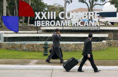 Entrada de la a la XXIII Cumbre Iberoamericana en Panamá