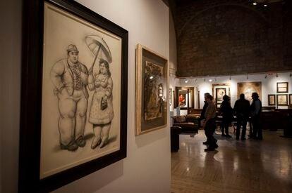 El dibujo en blanco y negro de Botero de Sadurní Galeria d'Art.