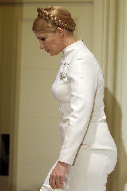 Yulia Timoshenko, el domingo en Kiev.