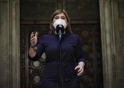 Isabel Bonig, en el Palau de la Generalitat, en enero.  t