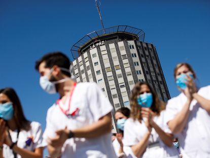 Despedida de los residentes de cuarto año el pasado 20 de mayo en el Hospital de La Paz.