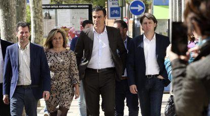 Pedro Sánchez, durante la visita de este martes a Soria.