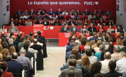 Comite Federal del PSOE presidido por su Secretario General, Pedro Sanchez.