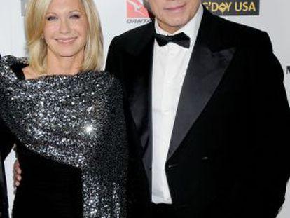 Olivia Newton-John y John Travolta, en 2010.