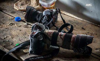La cámara del fotógrafo sirio Molhem Barakat, de 17 años, abatido en Alepo el pasado viernes mientras trabajaba para Reuters.