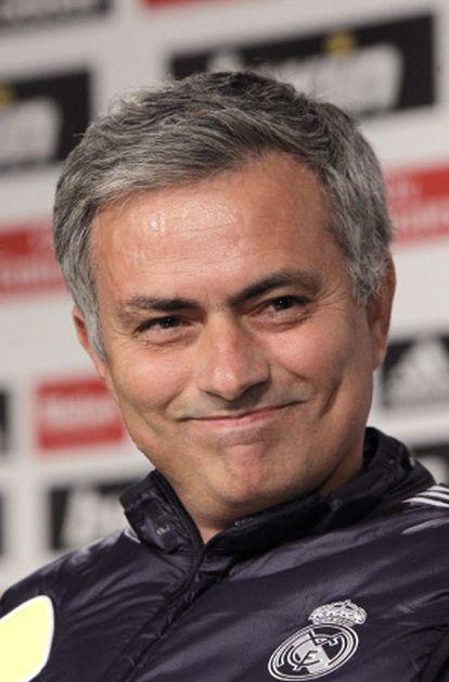 Mourinho, en la rueda de prensa previa al derbi.