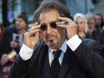 Al Pacino en el estreno de 'El irlandés' en Londres, el pasado 13 de octubre. En vídeo, el tráiler de la película.
