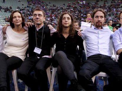 Los líderes de Podemos en el congreso del partido.