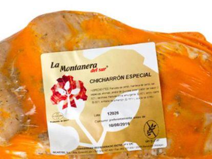 El chicharrón especial de la marca andaluza La Montanera del Sur. En vídeo, Andalucía decreta la tercera alerta sanitaria por listeria en una nueva marca.