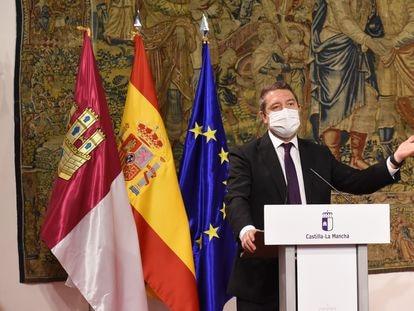 El presidente de Castilla-La Mancha, Emiliano García-Page, durante un acto el 25 de septiembre