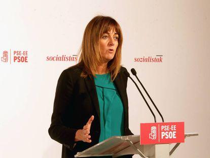 Idoia Mendia, líder del PSE-EE, en una imagen de archivo.
