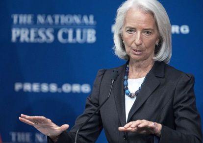 La directora gerente del FMI, Christine Lagarde, el pasado 15 de enero.