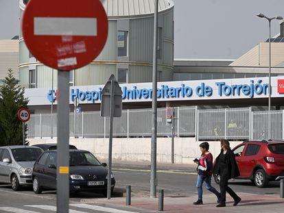 Fachada del Hospital Universitario de Torrejón (Madrid).