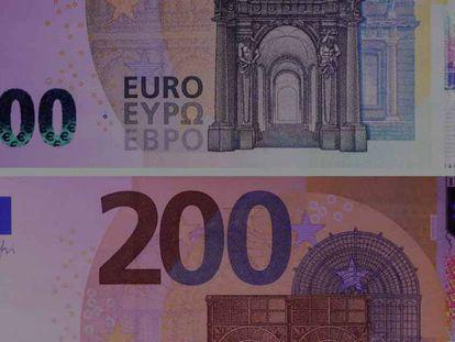 Diseño de los nuevos billetes de 100 euros y de 200 euros. En vídeo, así es el proceso de impresión.