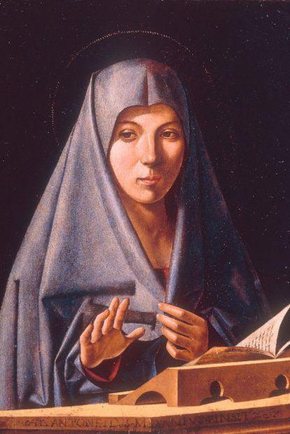 <i>Virgen de la Anunciación</i><b>, de Antonello da Messina, la obra custodiada por ex sicarios mafiosos en Palermo.  </b>