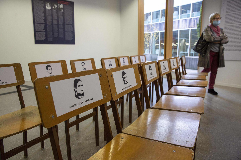 La exposición '1970-2020 Proceso de Burgos. Juicio al Franquismo' que acoge hasta el 26 de enero la Universidad del País Vasco en San Sebastián.