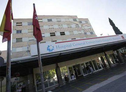 El hospital Gregorio Marañon, en Madrid, donde permanecía ingrasada la embarazada con la nueva gripe.