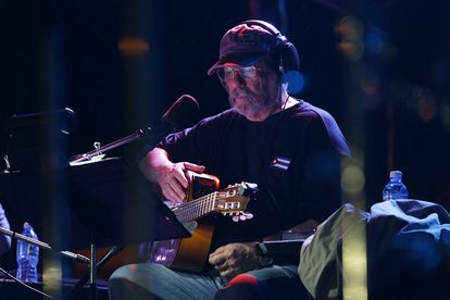 Silvio Rodríguez durante uno de los conciertos por los barrios de La Habana antes de la pandemia.