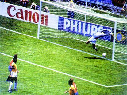 El gol fantasma de Míchel a Brasil en el Mundial de México de 1986