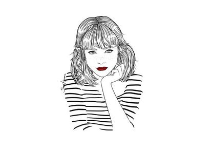 Sara Herranz, dibujada por ella misma.