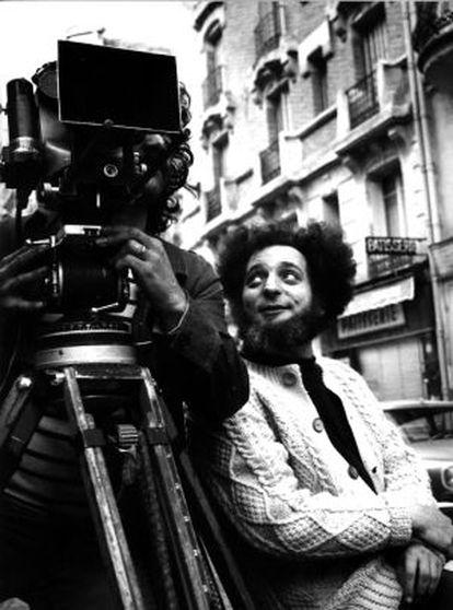 Georges Perec, en el rodaje de 'Un homme qui dort', película de 1973 sobre su libro homónimo.