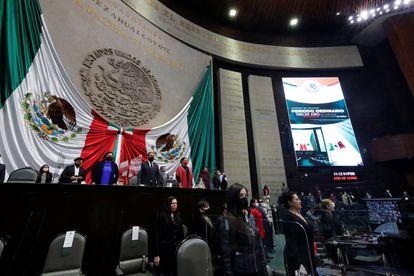 Sesión del Congreso mexicano, este lunes.