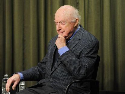 Norman Lloyd, en un coloquio sobre su carrera en 2015 en la fundación del SAG, el Sindicato de Actores, en Los Ángeles.