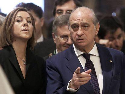 Jorge Fernández Diaz y María Dolores de Cospedal.