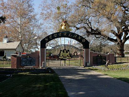 Una de las entradas al rancho Neverland, en una imagen de 2004.